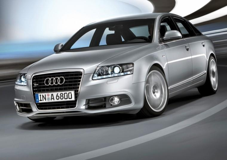 Front Left Speeding 2009 Audi A6 Car Picture
