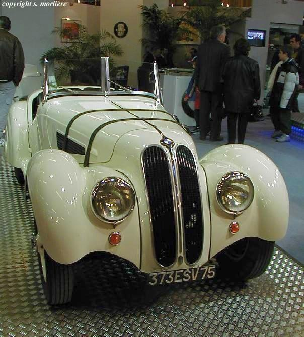 Front View 1936 BMW 328 Car Picture