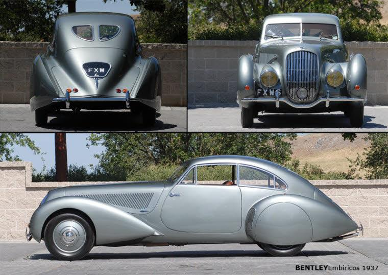 Three View 1937 Bentley Embiricos Car Picture