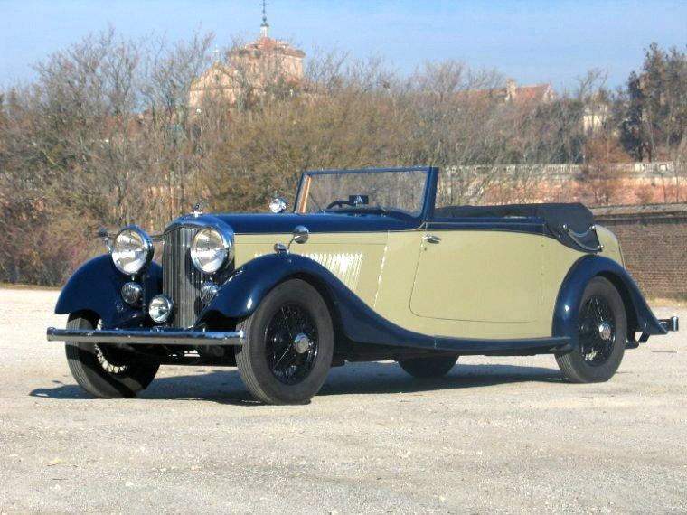 Front Left 1935 Bentley ParkWard Drophead Car Picture