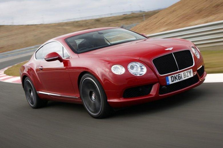 Front Right Orange 2013 Bentley Continental GT Car Picture