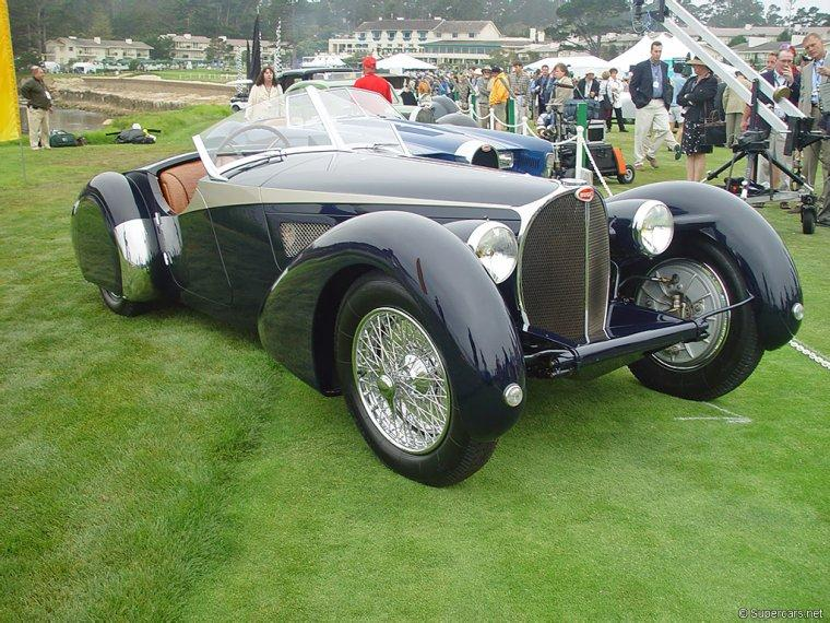 Front Right 1936 Bugatti Type 57SC Corsica Car Picture