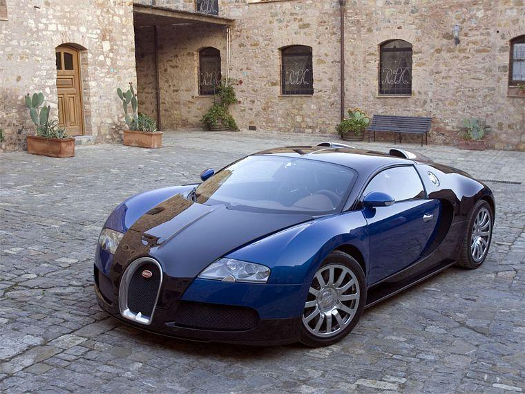 Front left Blue 2006 Bugatti Veyron Car Picture