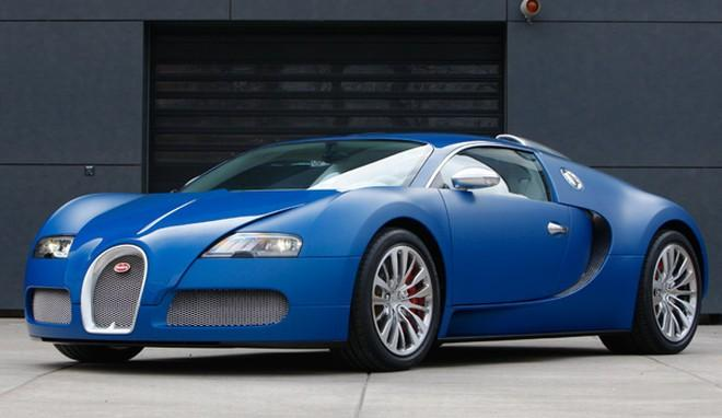 Front Left Blue Bugatti Veyron Centenaire Car Picture