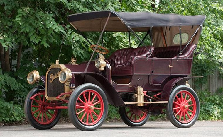 Front Left 1909 Buick Model F Car Picture