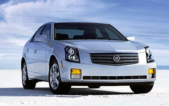 Front Right White 2005 Cadillac CTS Sedan Car Picture