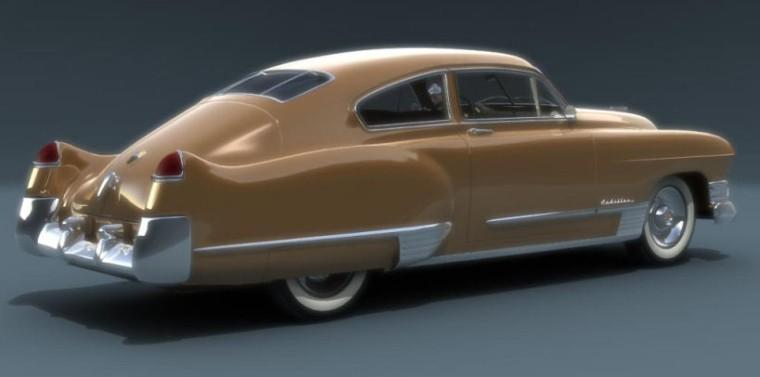 Rear Right 1949 Cadillac Series 62 Car Picture