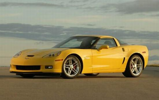 Front left Yellow 2006 Chevrolet Corvette Z Car Picture