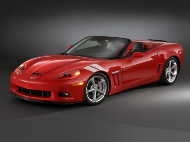 Front Left Red 2010 Chevrolet Corvette Grand Sport Car Picture
