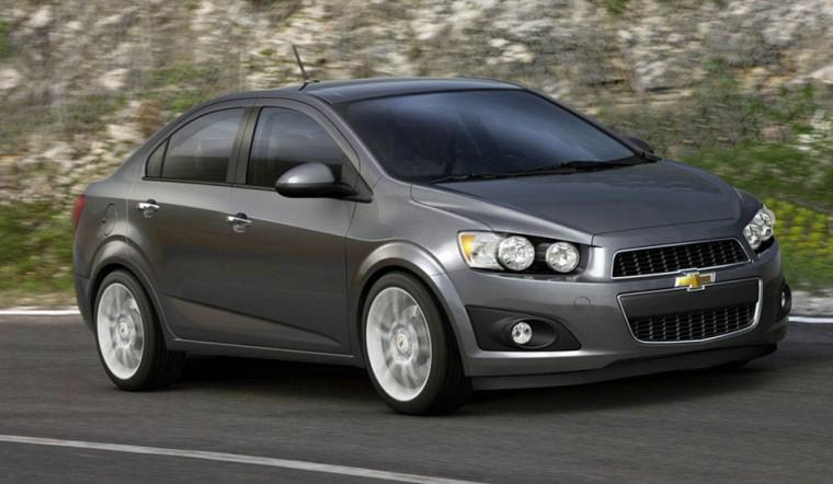 Front Right Gray 2012 Chevrolet Aveo Car Picture