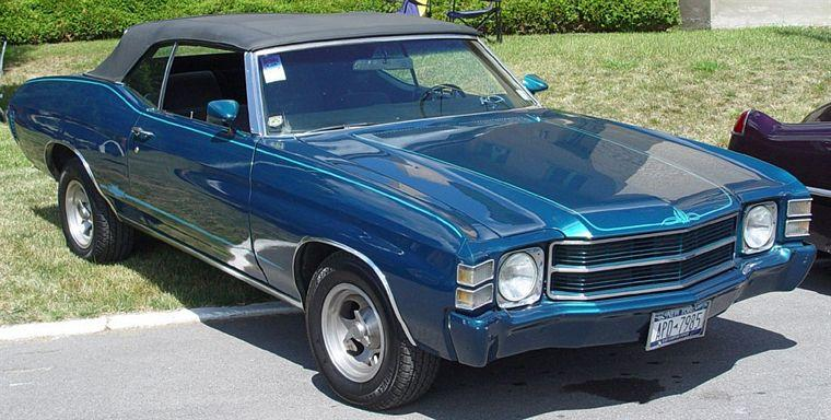 Front Right Blue 1971 Chevrolet Chevelle Car Picture