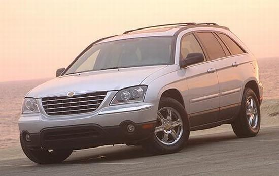 Front left Silver 2004 Chrysler Pacifica CUV Picture