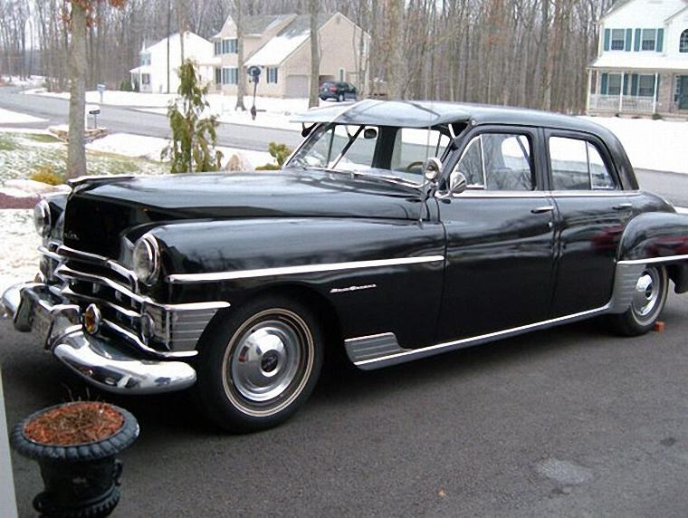 Front Left Black 1950 Chrysler New Yorker Car Picture