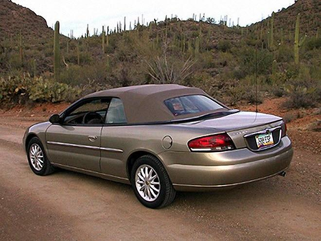 Rear Left 2002 Chrysler Sebring Car Picture