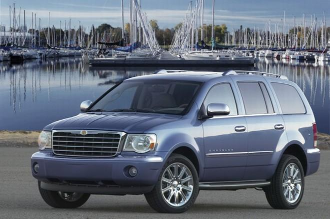 Front left Blue 2008 Chrysler Aspen SUV Picture