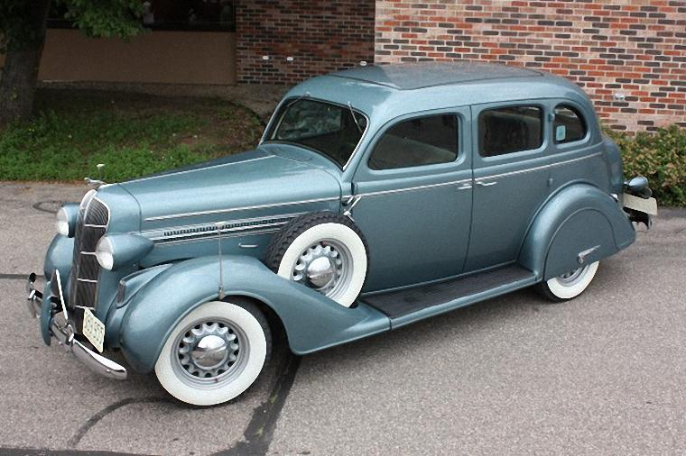 Front Left Blue-Green 1936 Dodge Touring Sedan Picture