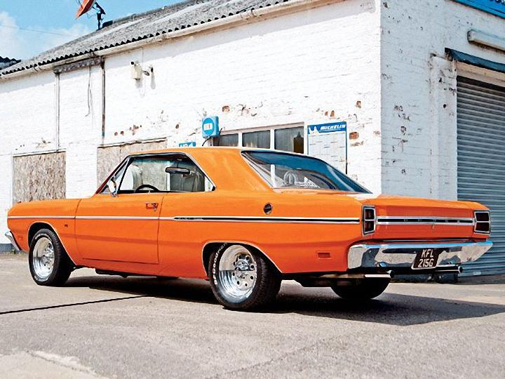 Rear Left Orange 1969 Dodge Dart Car Picture