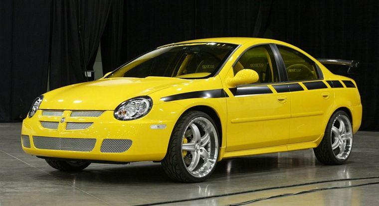 Front left yellow 2003 Dodge Neon SRT Custom Car Picture