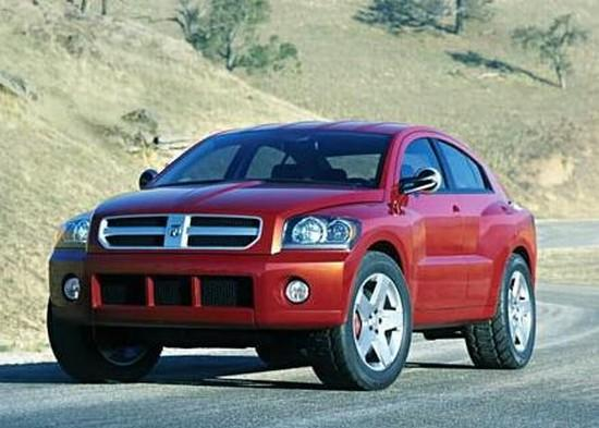 Front left red Dodge Avenger Concept Car Picture