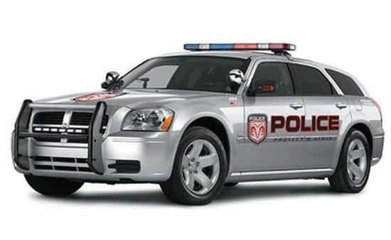 Front Left 2006 Dodge Magnum Police Car Picture Dodge Cars