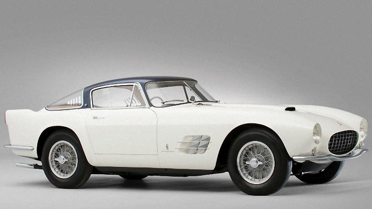 Front Right White 1955 Ferrari 375 Berlinetta Car Picture