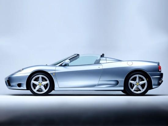 Left Side Blue Ferrari 360 Modena Spider Car Picture