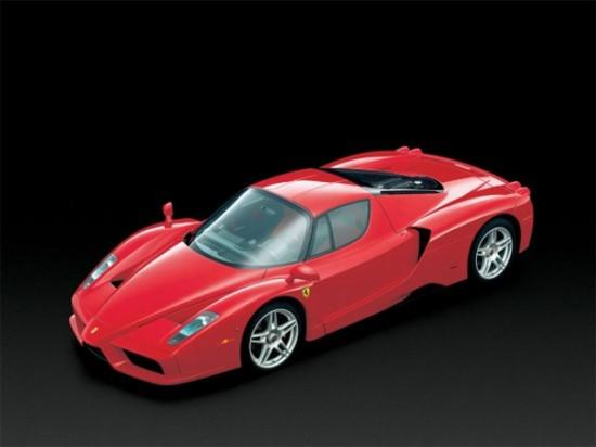 Top View Red Ferrari Enzo Car Picture