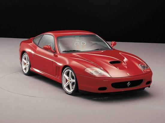 Front Right Red Ferrari 575M Maranello Car Picture