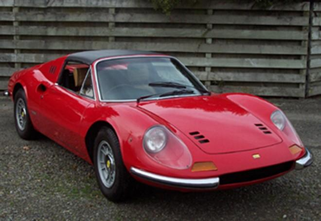 Front Right Red 1973 Ferrari Dino 246 Car Picture