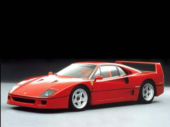 Front left Red Ferrari F40 Car Picture