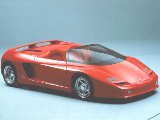 Front Right Red Ferrari Mythos Concept Car Picture