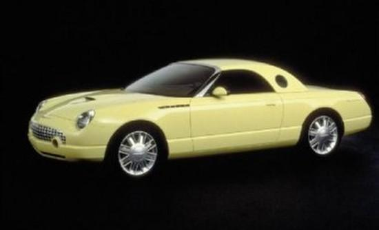 Left Side Yellow 2002 Ford Thunderbird Car Picture