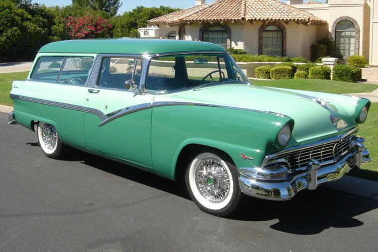 Front Right 1956 Ford Country Sedan Station Wagon Picture
