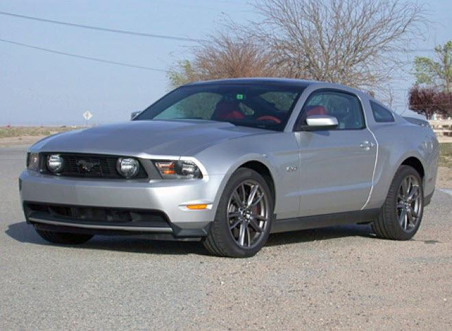Front Left Silver 2011 Ford Mustang GT Car Picture