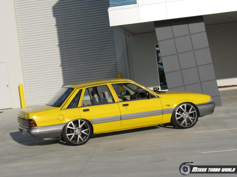 Right SIde Yellow 1988 Commodore VL Car Picture