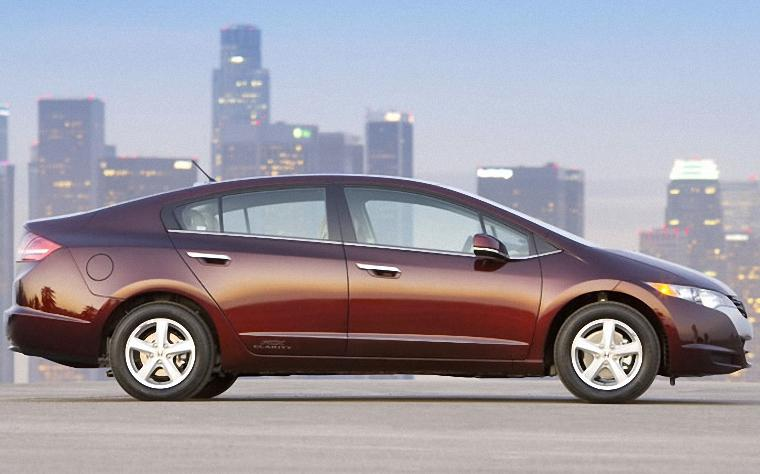 Right Side Maroon Honda FCX Clarity Car Picture