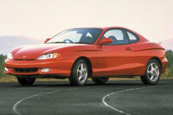 Front left Red 2000 Hyundai Tiburon Car Picture