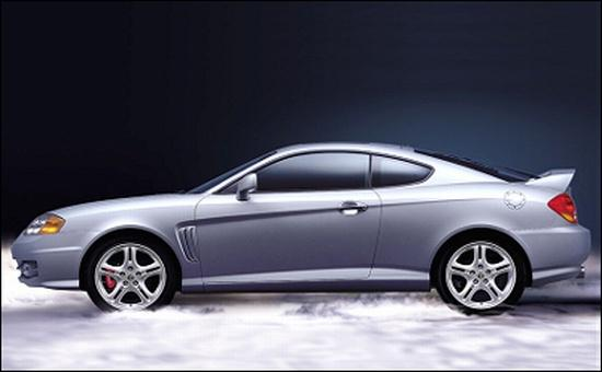 Left Side Silver 2002 Hyundai Tiburon Car Picture