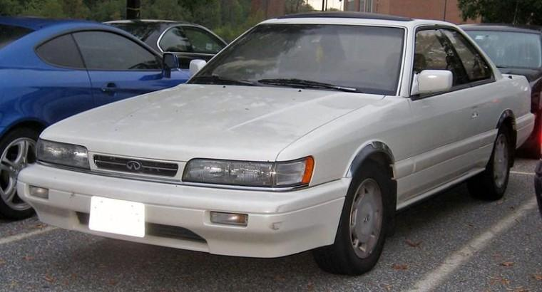 Front Left White 1989 Infiniti M30 Car Picture