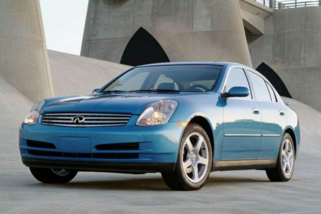 Front left Blue 2003 Infiniti G35 Car Picture