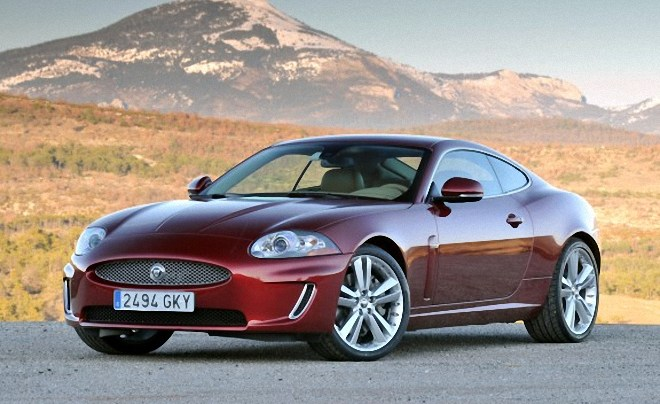 Front Left Maroon 2011 Jaguar XK Coupe Car Picture