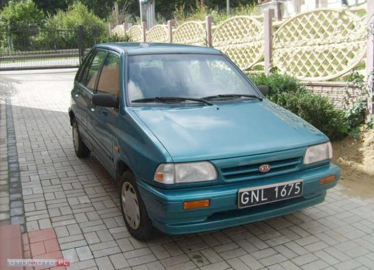 Front Right Blue 1999 Kia Pride Car Picture