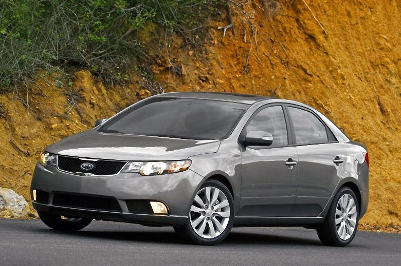 Front Left Gray 2010 Kia Forte Car Photo