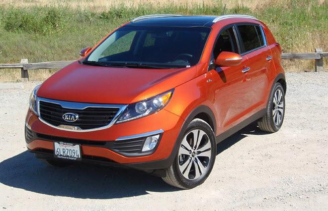 Front Left Orange 2011 Kia Sportage SUV Picture