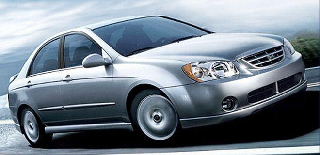 Front Right 2005 Kia Spectra Sedan Car Picture