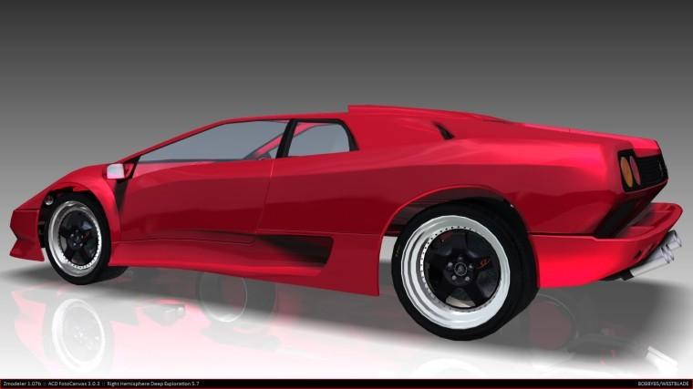 Left Side Red 1997 Lamborghini Diablo Car Picture