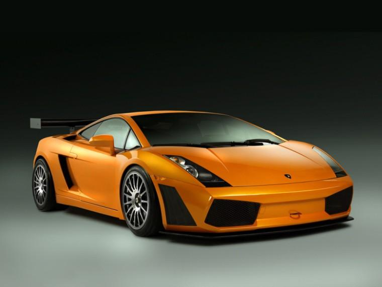 Front Right Orange 2010 Lamborghini Gallado Spyder Car Picture