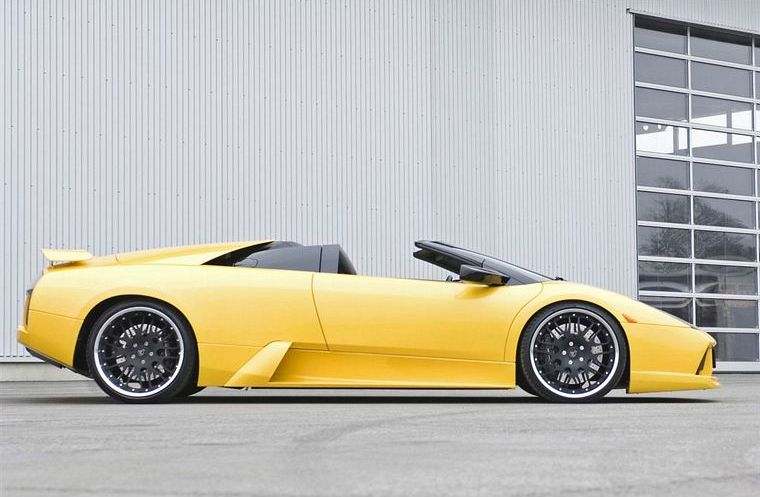 Right Side Yellow 2007 Hamann Lamborghini Murcielago Car Picture