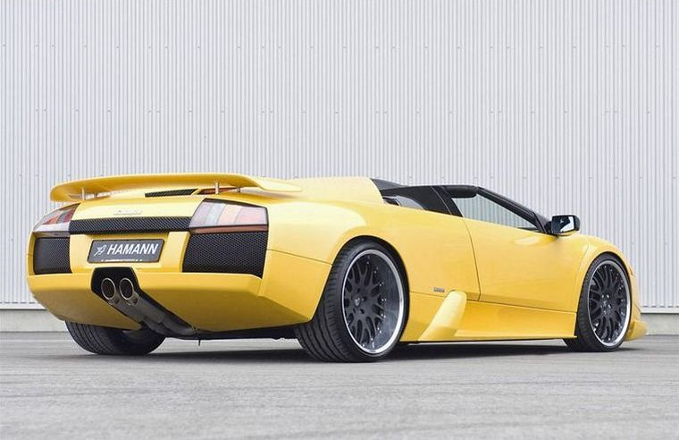 Rear Right Yellow Hamann Lamborghini Murcielago Car Picture