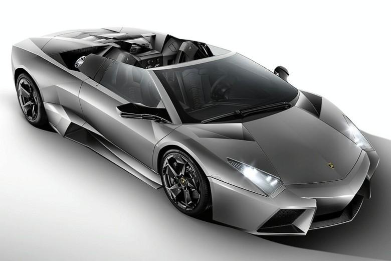 Top View Gray Lamborghini Reventon Roadster Picture